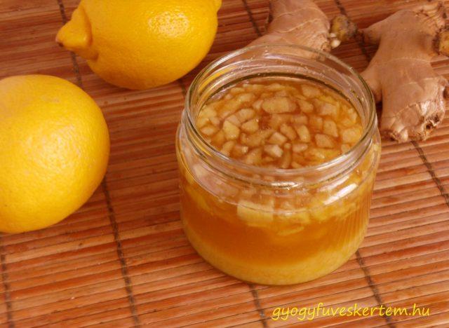 Gyömbéres citromos méz